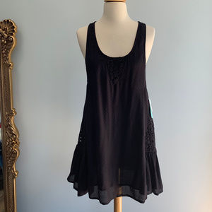 Rip Curl Morning Light Crochet Lace Cover Up Dress